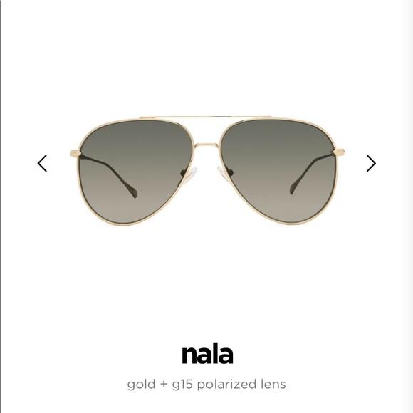 3d13349f4 Diff Eyewear Accessories | Diff Aviators Nala Gold Polarized ...